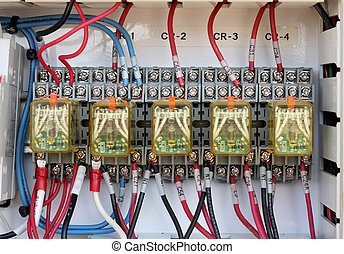 close up wiring -Control panel
