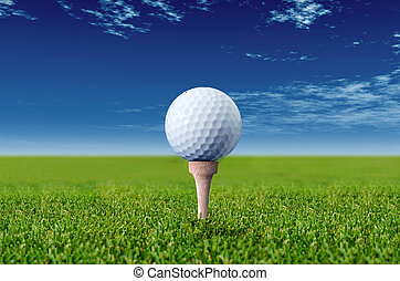 close up with a golf ball