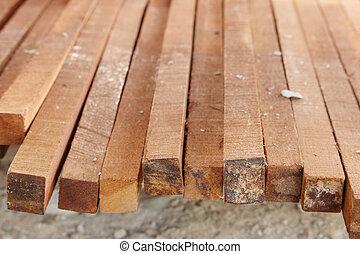 close-up Wood Construction arranged