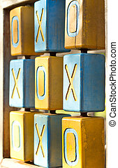 Close up wooden toys