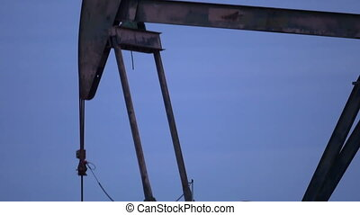 Close up working oil pump - Close up of working oil pump...