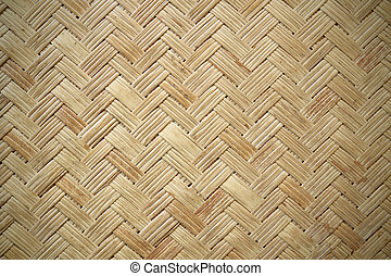 close up woven bamboo pattern background texture