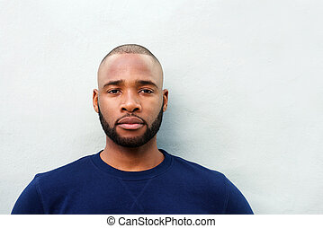 Close up young african american man