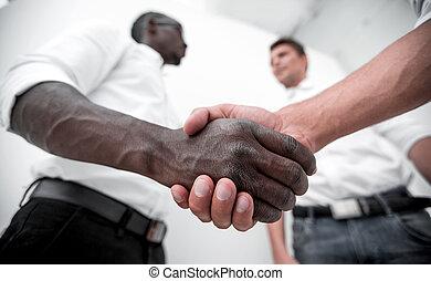 close up.business handshake business partners