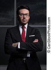 close up.portrait of a serious businessman