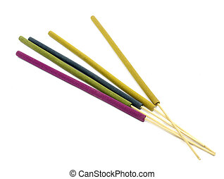 close-ups of incense sticks - aromatherapy (very shallow...
