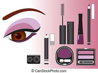close-up.vector, makijaż, wizerunek