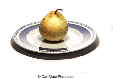 pear on a plate