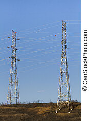two electricity towers