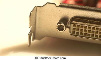 Close view of a DVI port