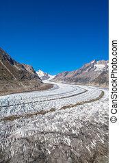 Close view of Aletsch glacier