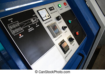 machine control panel - close view of machine control panel