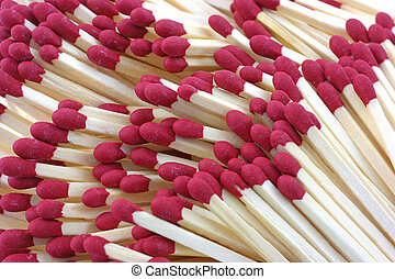 Close view of matches