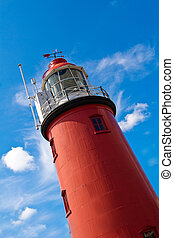 Close view on red lighthouse