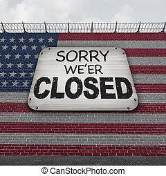 Closed American Border