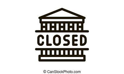 closed amusement park Icon Animation. black closed amusement park animated icon on white background