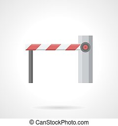 Closed barrier flat color vector icon
