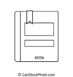 Open book icon, outline style. Open book icon. outline ...