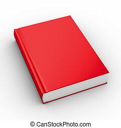 Closed book on white background. Isolated 3D image