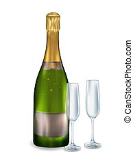 Closed bottle champagne