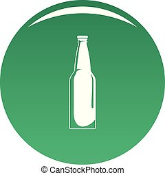 Closed bottle icon vector green