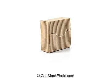 Closed box isolated on white background