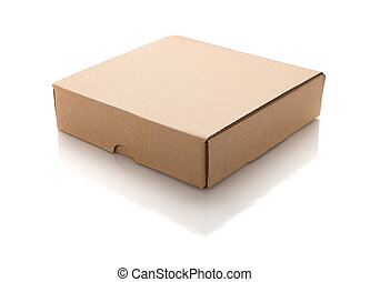 closed brown box on a white background