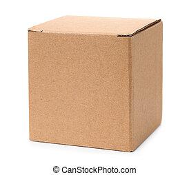 Closed brown cardboard box