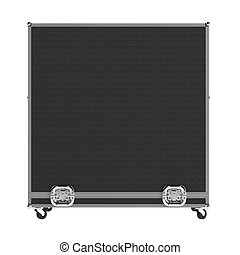 Closed case - Closed road case isolated on white background