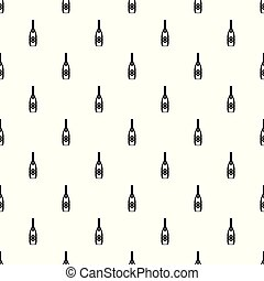 Closed champagne pattern seamless vector