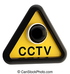 Closed circuit television CCTV alert sign