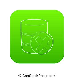Closed database icon green