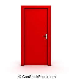 closed door clipart. Closed Door Isolated On White Clipart
