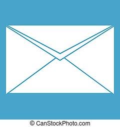 Closed envelope icon white