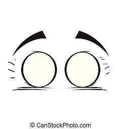 Closed eyes cartoon
