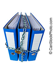 closed file folder with chain