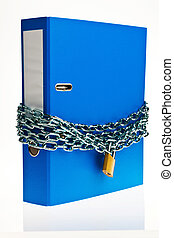 closed file folder with chain - a file folder with chain and...
