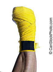 closed fist with a bandage