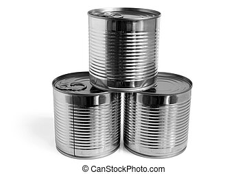 Closed food tin cans