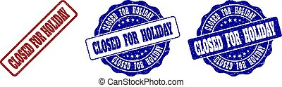 CLOSED FOR HOLIDAY Scratched Stamp Seals
