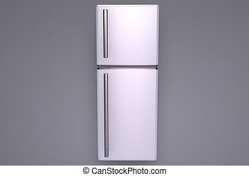 Closed fridge - Illustration of a closed fridge - Front view...