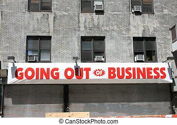 Closed. - Generic business closing down.