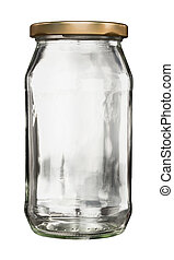 Closed glass jar with lid