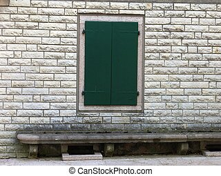 Closed Green Window Wall