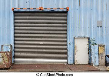 Closed Industrial Gate