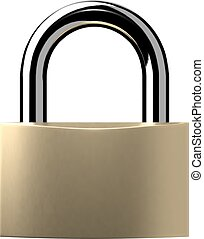 Closed lock isolated on white background. Vector...