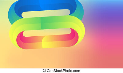 closed loop in a abstract rainbow background