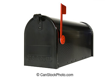 Closed mail Box - Closed mail box with flag up