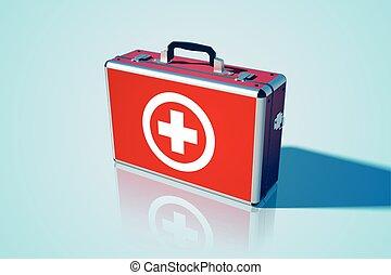 Closed Medical Bag Template
