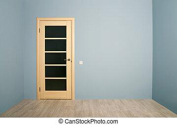 Closed Modern wooden Door